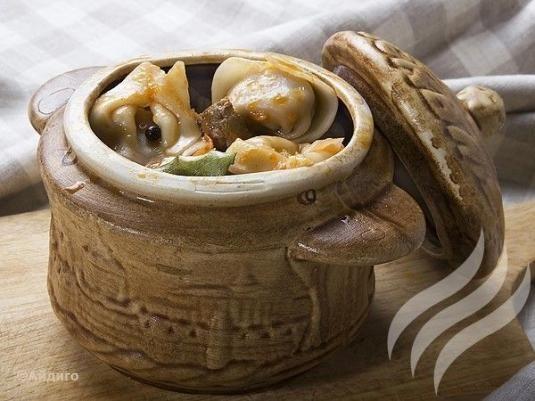 Как готовить пельмени в горшочках в духовке с крышкой