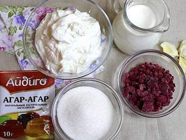 Рецепт из агар агара и творога